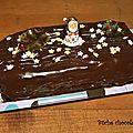 Bûche chocolat pistache