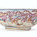 A rare large tiger and foxhunting bowl, qianlong period, circa 1775