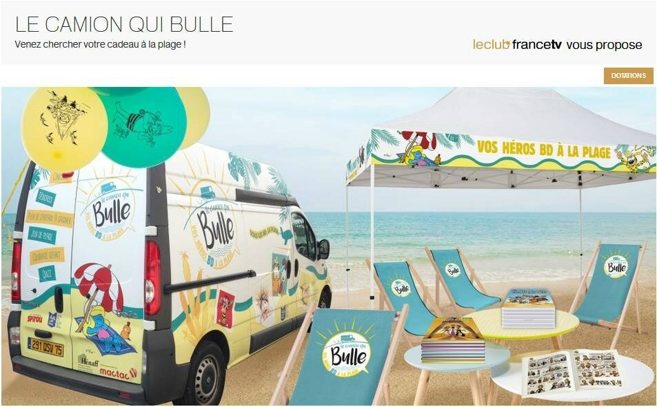 Le camion qui bulle – Sous les BD, la plage !