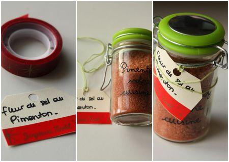 cadeau gourmand fait maison fleur de sel au pimenton paprika blog chez requia