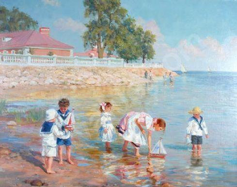 averin-alexander-1952-russia-playing-with-toys-yachts-1521294