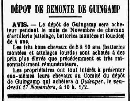 Dépot de remonte Guingamp