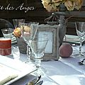 Nuit des anges décoratrice de mariage décoration de table pêche 006