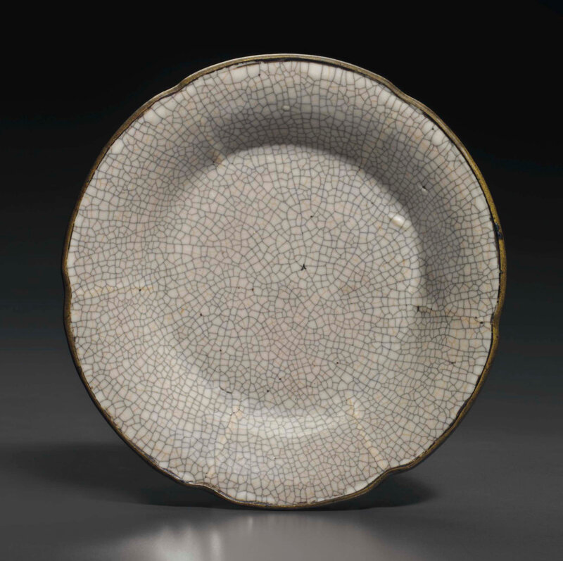 A rare Ge-type mallow-form dish, Yuan-early Ming Dynasty, 13th-15th century