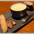 Un air de casse-croûte au tourin blanchi et foie gras en mini-baguettes