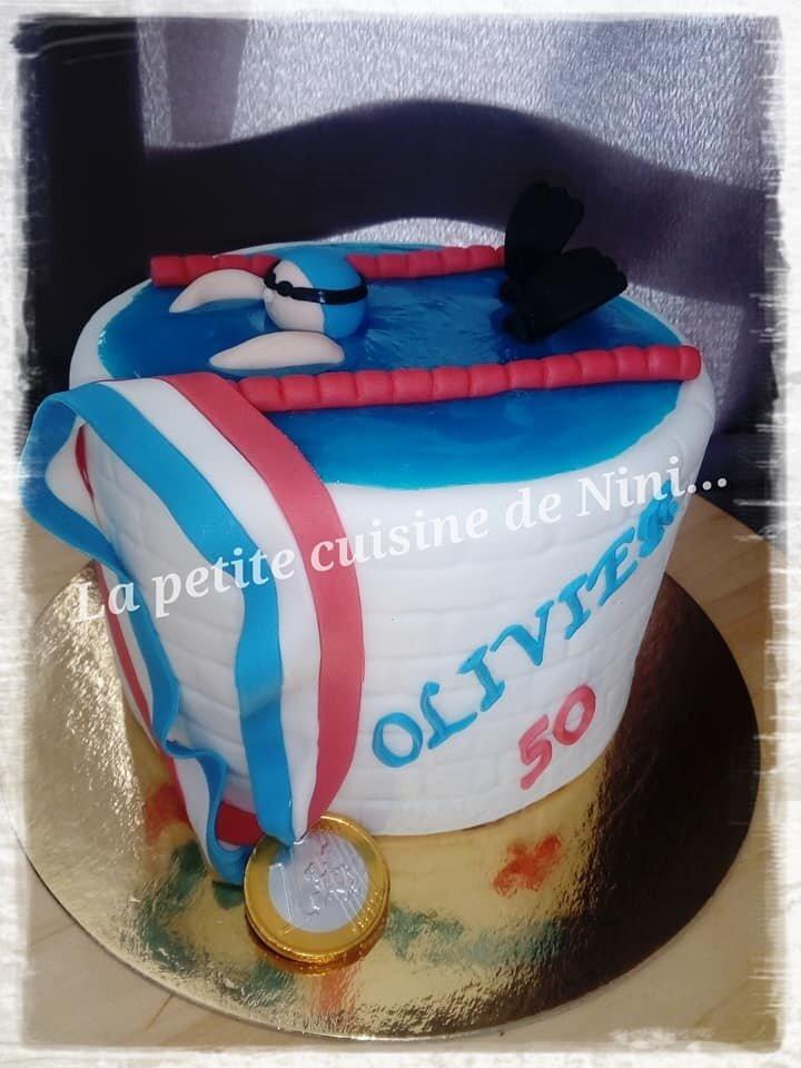 Gâteau natation