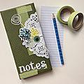 bloc notes vert blog