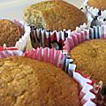 Muffins noisette, chocolat et orange, anti régime dukan