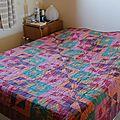 Dessus de lit en patchwork