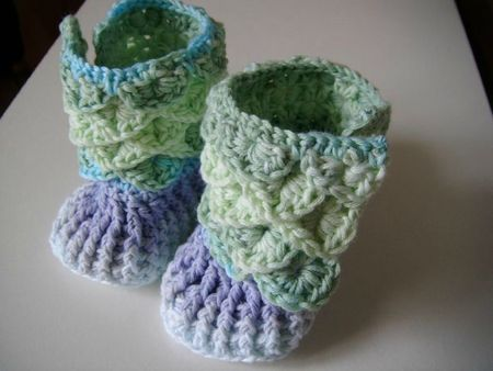 baby booties crochet bébé chaussures chaussons 007