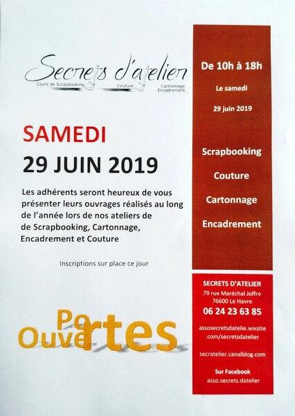 Portes ouvertes 29 juin