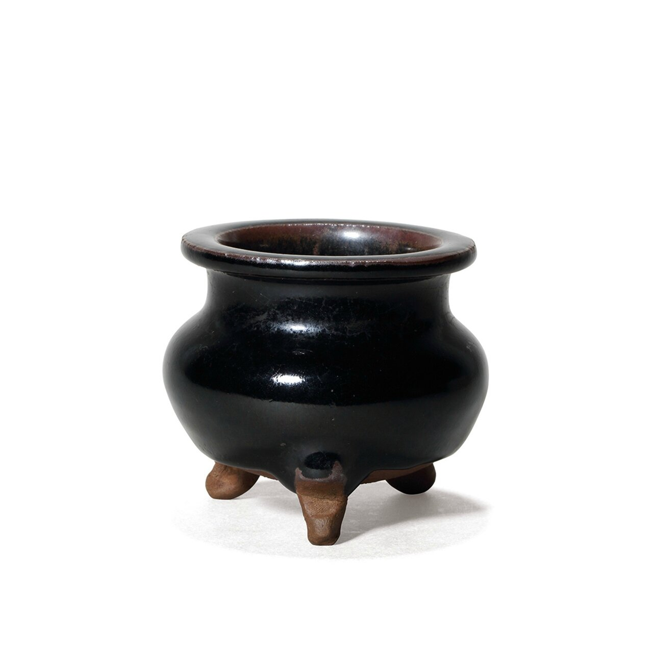 A very rare and small yaozhou black glazed censor, Jin Dynasty (AD1115-1234)