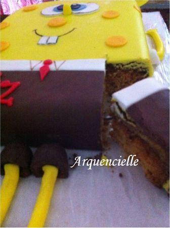 Gâteau Bod l'éponge coupé Spongebob cake
