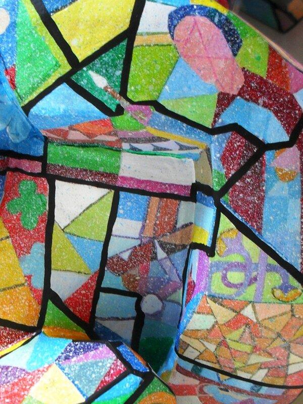 Hervé THAREL SCHMIMBLOCK'S vitro 2015 - acrylique sur argile 34x17cm détail9