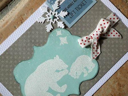 détail carte ours polaires