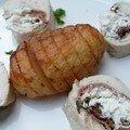 Roulés de poulet et Hasselback potatoes