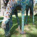 Quito et ses chevaux en mosaïque.