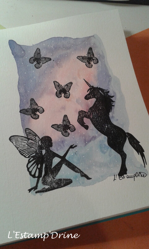 carte aquarelle fee licorne 1