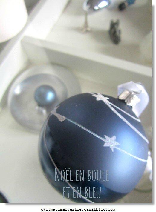Noël en boule et en bleu marimerveille