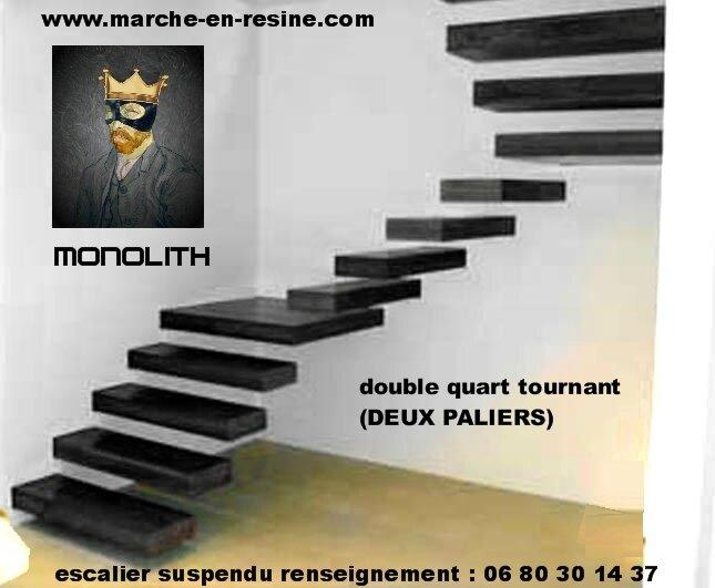 escalier suspendu quart tournant escalier suspendu marches suspendues marche caisson, escalier beton placage escalier