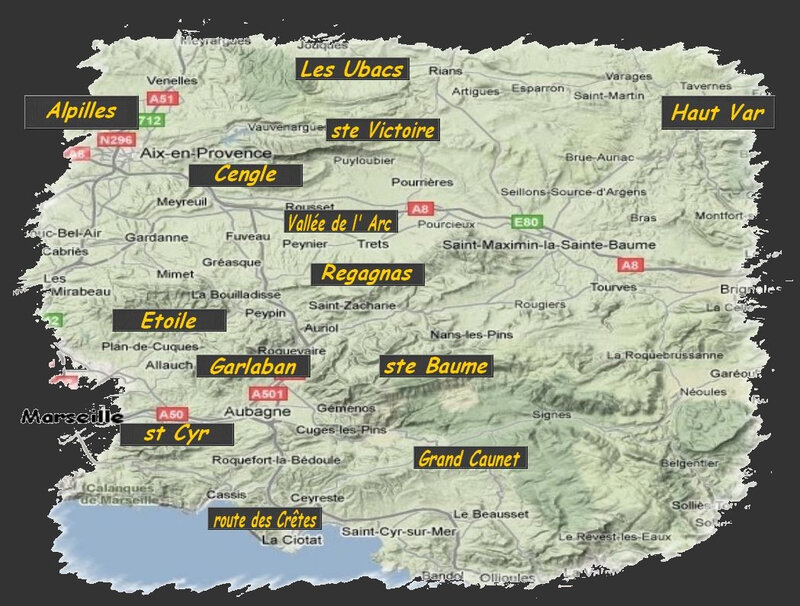 carte des circuits depuis Marseille (2)