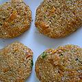 Galettes de quinoa à la patate douce