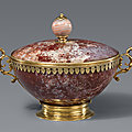 A vermeil mounted jasper dish and cover, italy or southern germany, 17th century
