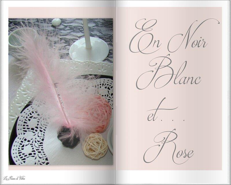 TABLE NOIR BLANC ET ROSE
