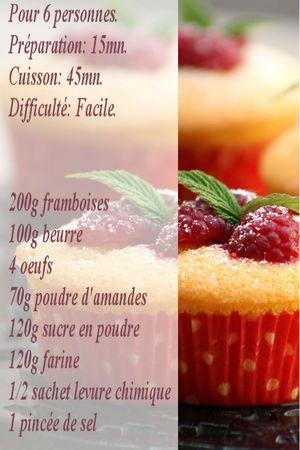 recette moelleux framboises