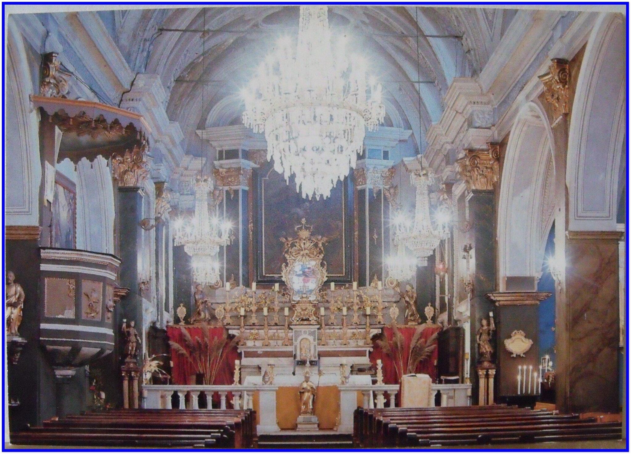 St Martin du Vésubie - église paroissiale - Retable du Rosaire 17e