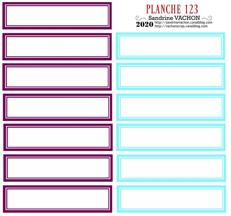 PLANCHE 123 violet bleu clair