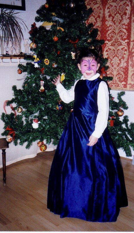 Noël 2001,création perso, taffeta bleu