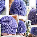 J'adore tricoter les bonnets !