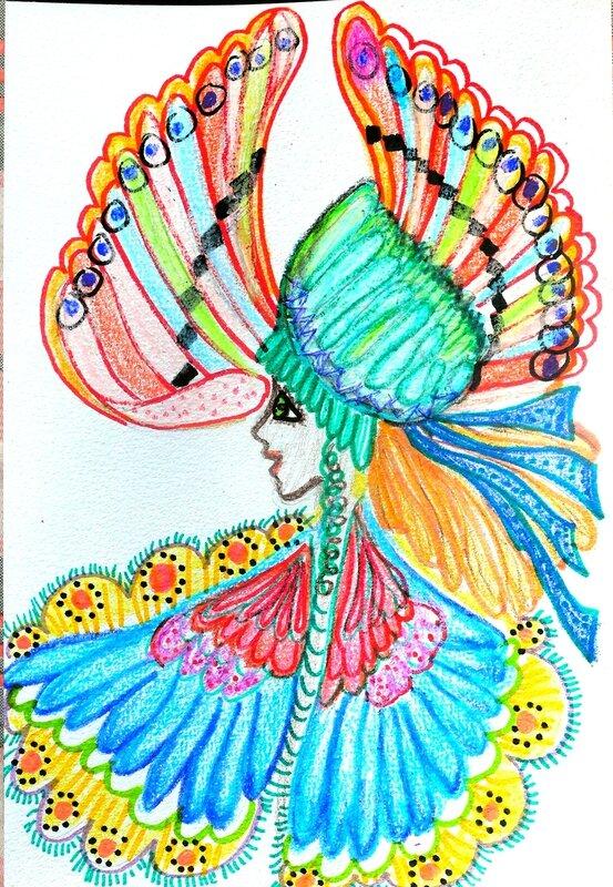 femme oiseau yurtao