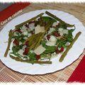 Salade de roquette aux asperges et au parmesan