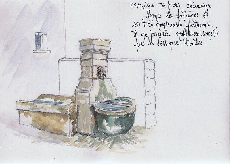 Pernes les Fontaines : Fontaine de la rue Victor Hugo