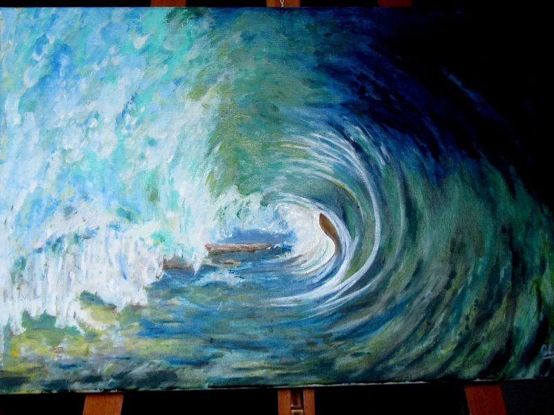 dans la vague - huile 019