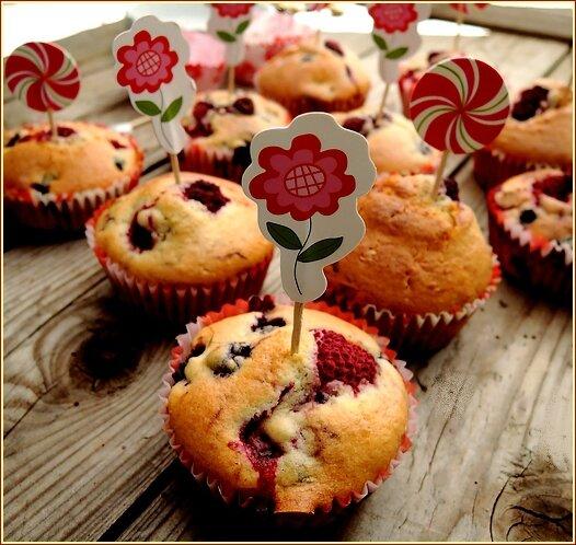 cakes aux fruits rouges 1