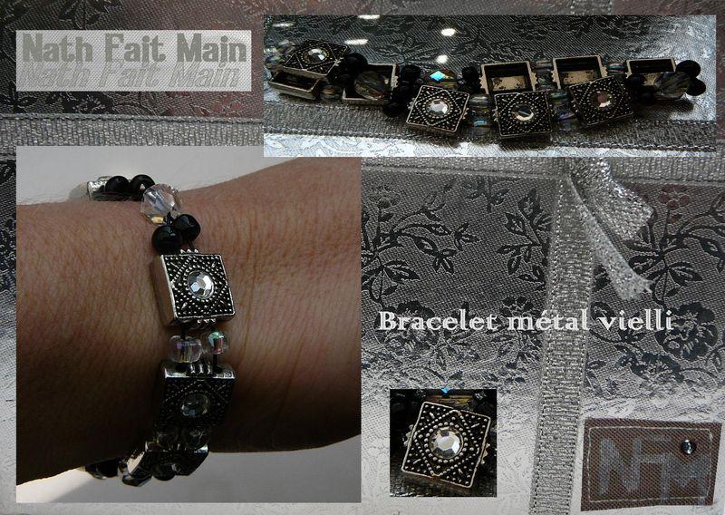 Bracelet métal vieilli