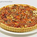 Tarte chorizo, poivrons et tomates d'après jamie oliver