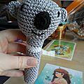 Hochet au crochet: petit koala!