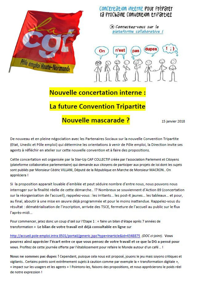 Nouvelle concertation interne : La future Convention tripartite Nouvelle mascarade ?