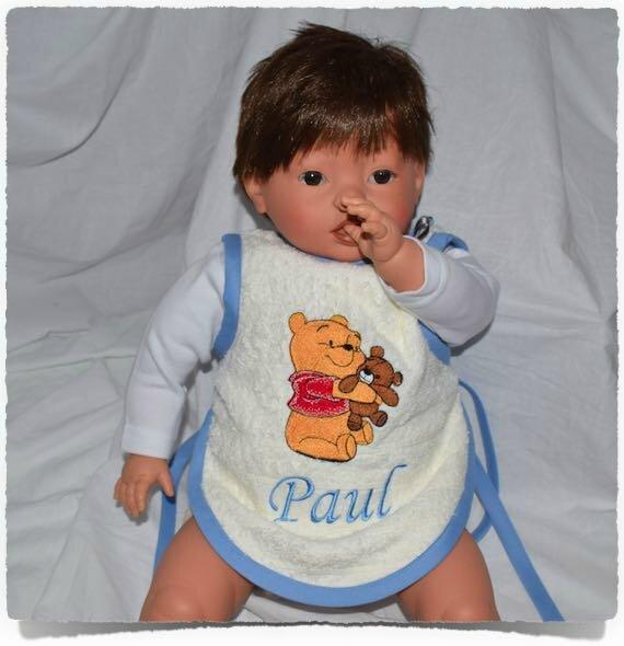 Bavoir tablier bébé personnalisé OURSON