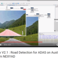 Nexyad adas : road detection on a countryside road (no markings) using roadnex v2.1