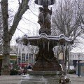 Fontaine glacée à Clermont Ferrand