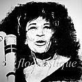 Portrait Ella Fitzgerald - dessin au fusain