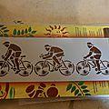 Cu292 : pochoir cyclistes
