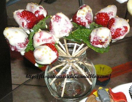 brochettes fleurs chocolat menthe