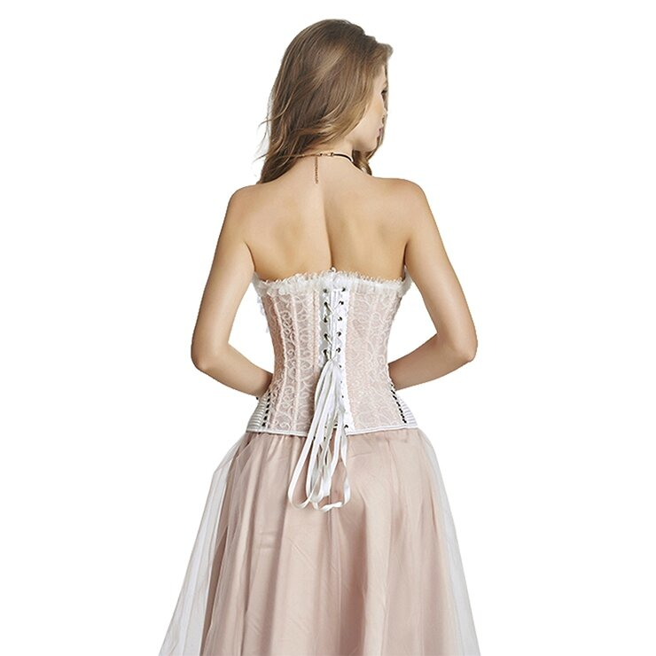 corset satin blanc rose ceremonie (4)