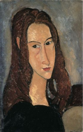 Modigliani Portrait dejeunefilleroussejeanne hebuterne